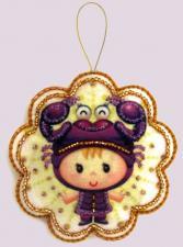 Butterfly | Игрушка из фетра Скорпион. Размер - 10 х 10 см.