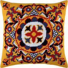 """Набор для вышивания подушки """"Персидская розетка"""". Размер - 40 х 40 см."""