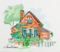Панна | Уютный домик. Размер - 21,5 х 21 см.
