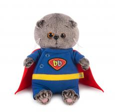 Басик BABY в костюме супермена, мягкая игрушка BudiBasa