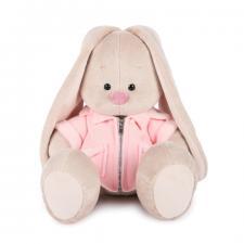 Зайка Ми в розовой меховой курточке, мягкая игрушка BudiBasa