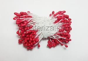 Тычинки, цвет № 148 (красный). Размер - 3 мм,150 шт