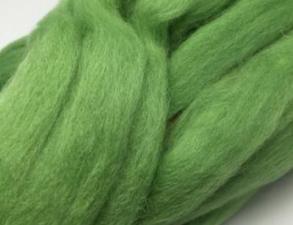 Шерсть для валяния,цвет киви (114).