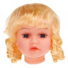 """Волосы (парик) для кукол """"Локоны"""",размер большой, цв. блонд,диаметр 12 см"""