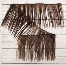 Волосы-тресс для кукол прямые,длина волоса 15 см,длина тресса 100 см,цв.6К