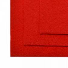 Фетр листовой жёсткий IDEAL,20 х 30 см,1 мм,цвет 601 красный