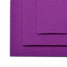 Фетр листовой жёсткий IDEAL,20 х 30 см,1 мм,цвет 619 сирень