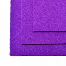 Фетр листовой жёсткий IDEAL,20 х 30 см,1 мм,цвет 620 фиолетовый