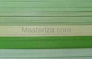 Бумага для кручения (зелёный ассорти). Размер - 3 мм.