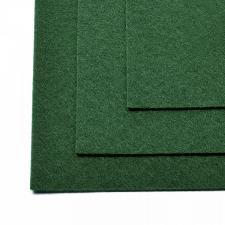 Фетр листовой жёсткий IDEAL,20 х 30 см,1 мм,цвет 667 тёмно-зелёный