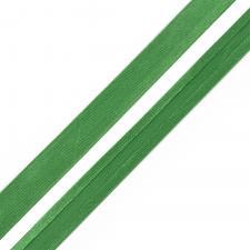 Косая бейка TBY атласная шир.15мм цв.F243 ярко-зелёный