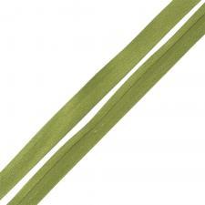 Косая бейка TBY атласная шир.15мм цв.F262 оливковый