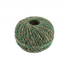 Шпагат льняной с зелёной ниткой,100м