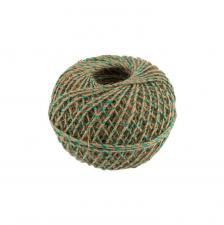 Шпагат джутовый с зелёной ниткой,100 м