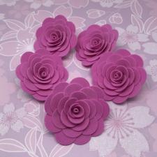 Цветы из фоамирана,4 см,5 шт,арт.ИТ-1,фуксия