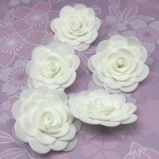 Цветы из фоамирана,4 см,5 шт,арт.ИТ-1,белый