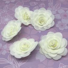 Цветы из фоамирана,4 см,5 шт,арт.ИТ-1,айвори