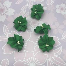 Цветы из фоамирана,4 см,5 шт,арт.УВ-1,зелёный