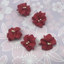 Цветы из фоамирана,4 см,5 шт,арт.УВ-1,красный
