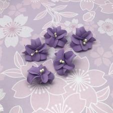 Цветы из фоамирана,4 см,5 шт,арт.УВ-1,сирень