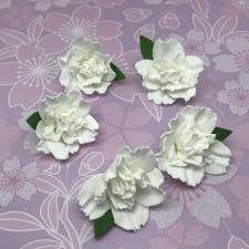 Цветы из фоамирана,4 см,5 шт,арт.ПН-2,белый