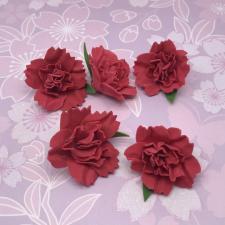 Цветы из фоамирана,4 см,5 шт,арт.ПН-2,красный