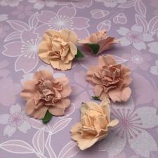 Цветы из фоамирана,4 см,5 шт,арт.ПН-2,персик