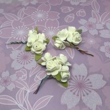 Цветы из фоамирана (букетики),2 см,12 шт,арт.Р-20/3,белый