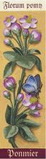 Ботаника.Яблоня. (по мотивам картины художника Бурдишона Ж.). Размер - 7 х 24,5 см.