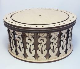 Деревянная заготовка- шкатулка-игольница. Размер - 17,5 х 8 см.