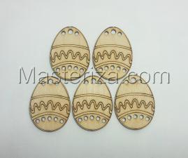"""Заготовка из фанеры """"Яйцо пасхальное"""",5 шт., высота 5 см"""