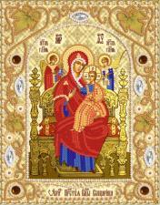 "Икона Божией Матери ""Всецарица"". Размер - 14 х 18 см."