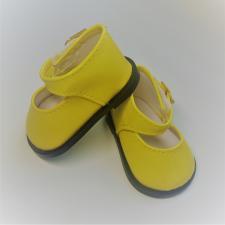 Туфли лаковые с ремешком на липучке,7 см,цв.жёлтый