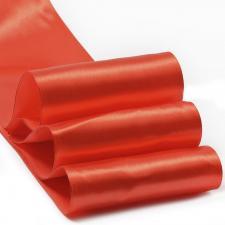 Лента атласная,100 мм,IDEAL,цвет 3095 красный
