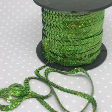 Пайетки на нитях,6 мм,цв.светло-зелёный голографик (№2)