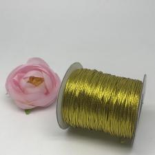 Шнур декоративный круглый,1 мм,золото,70 ярдов(64 м)