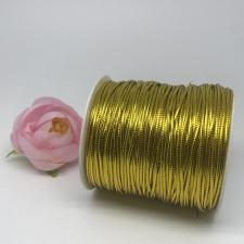 Шнур декоративный круглый,2 мм,золото,100 ярдов(91,44 м)