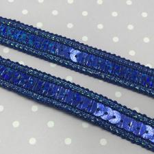 Декоративная тесьма с пайетками,12мм,цв.синий