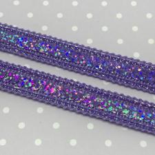Декоративная тесьма с пайетками,12мм,цв.фиолетовый