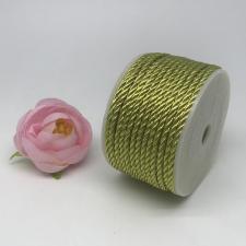 Шнур витой декоративный,3 мм,цвет золото