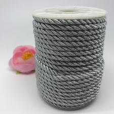 Шнур витой декоративный,5 мм,цвет серебро
