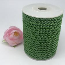 Шнур витой декоративный,5 мм,цвет зелёный (№4)