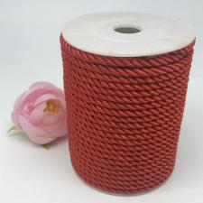 Шнур витой декоративный,5 мм,цвет красный (№6)