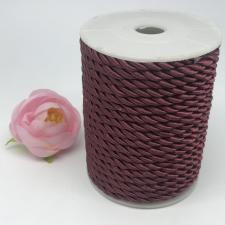 Шнур витой декоративный,5 мм,цвет бордовый (№7)