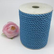 Шнур витой декоративный,5 мм,цвет голубой (№10)
