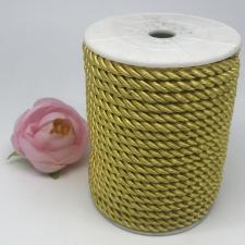 Шнур витой декоративный,5 мм,цвет светло-жёлтый (№12)