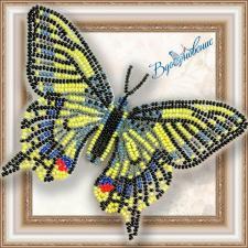 """Набор для вышивки бисером на прозрачной основе """"Бабочка """"Махаон"""""""""""