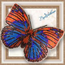 """Набор для вышивки бисером на прозрачной основе """"Бабочка """"Агриас Нарцисс"""""""""""
