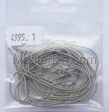 Канитель мягкая,1 мм,цвет №4995 серебро матовое