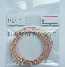 Канитель жёсткая (французский провод),1 мм,цвет №1439 розовое золото